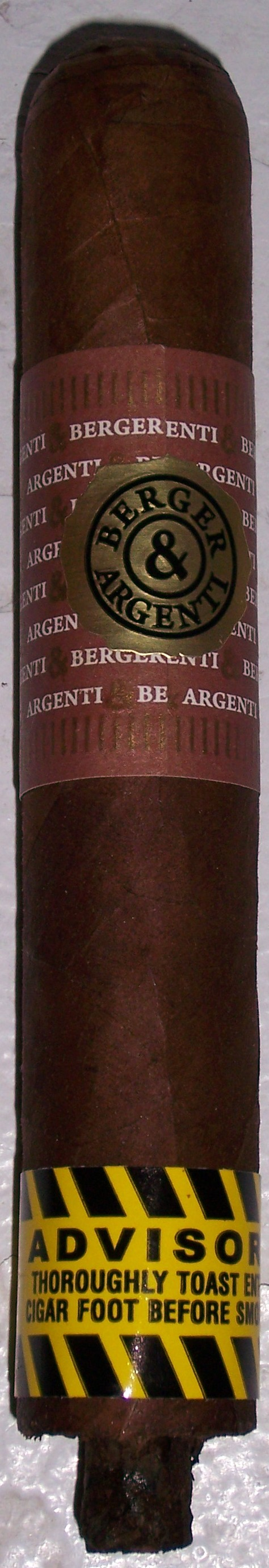 Cigar Review: Berger & Argenti Entubar Robusto
