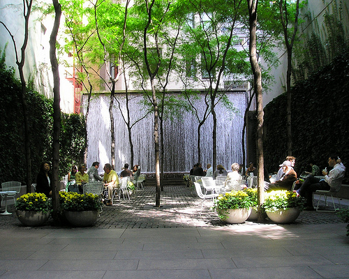A (Legal) Cigar Smoker Sanctuary: Samuel Paley Park