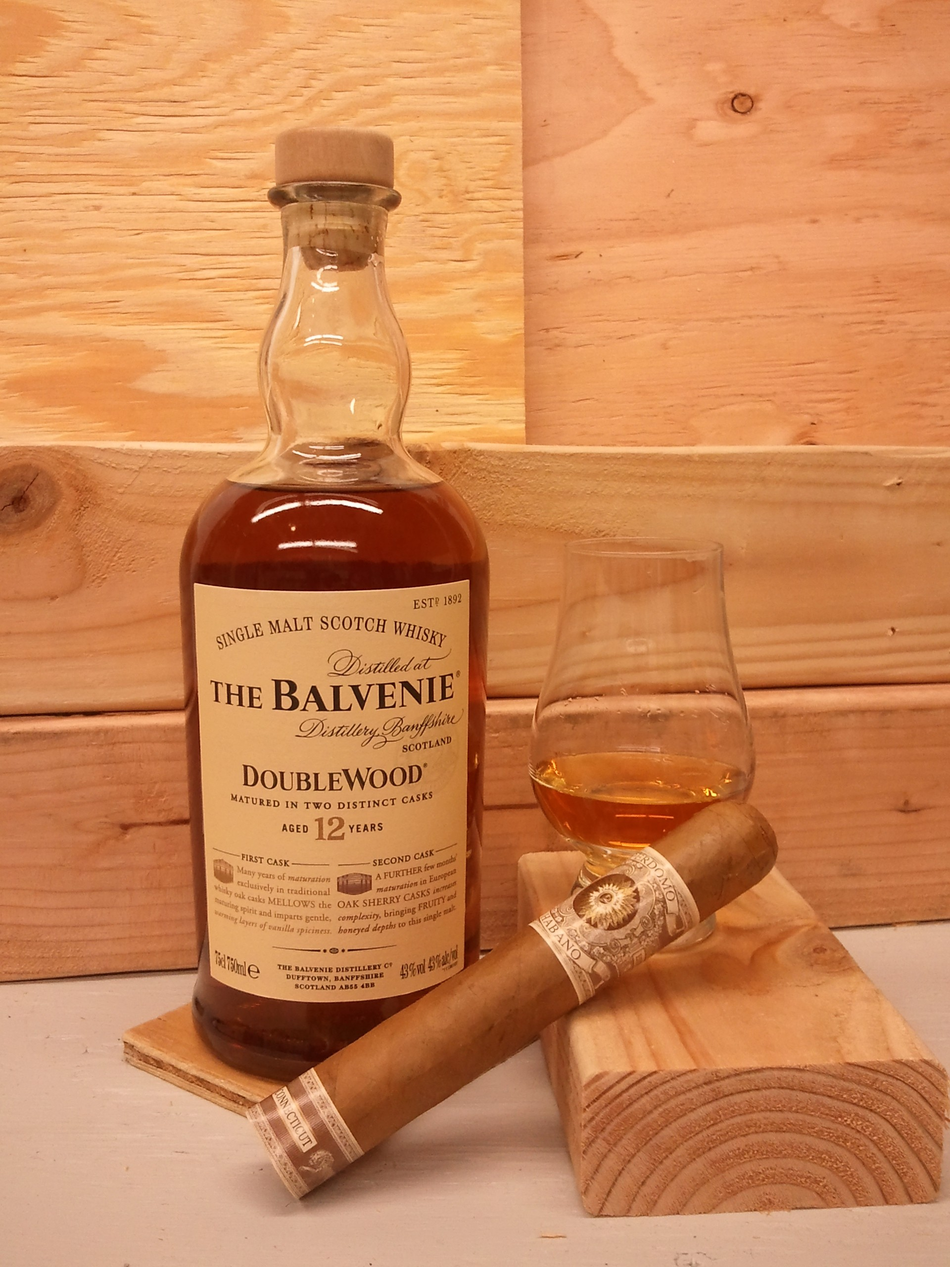 Balvenie 12 year Double Wood and Perdomo Habano Connecticut