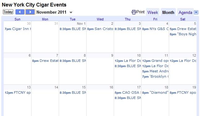 FineTobaccoNYC Announces New York City's Largest Cigar Event Calendar