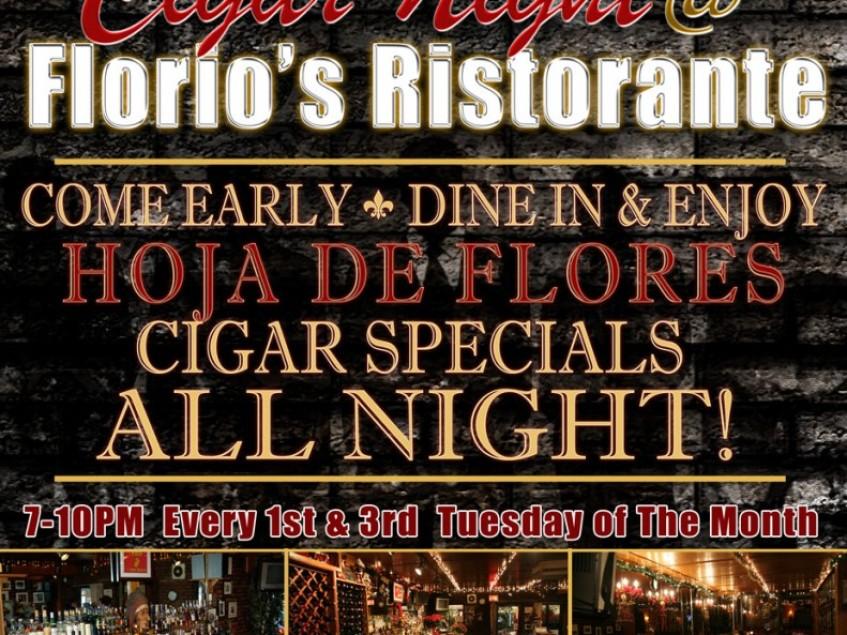 La Hoja Announces Cigar Events at Florio's Ristorante (New York)