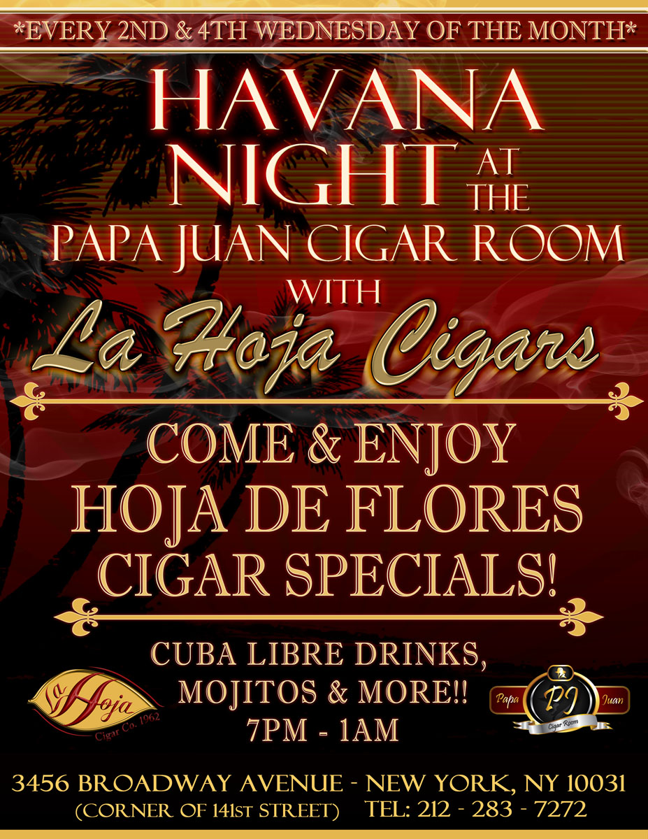 La Hoja Announces Havana Night at Papa Juan Cigar Co.