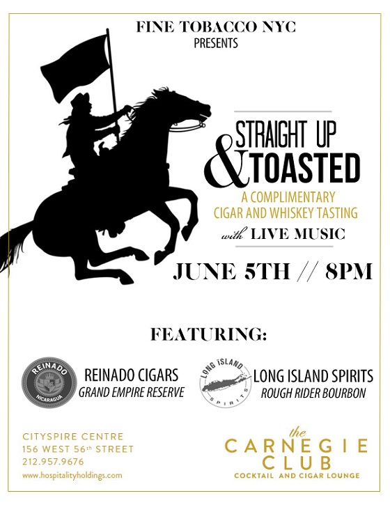 Post image for FineTobaccoNYC Presents: Straight Up & Toasted Cigar and Whiskey Pairing