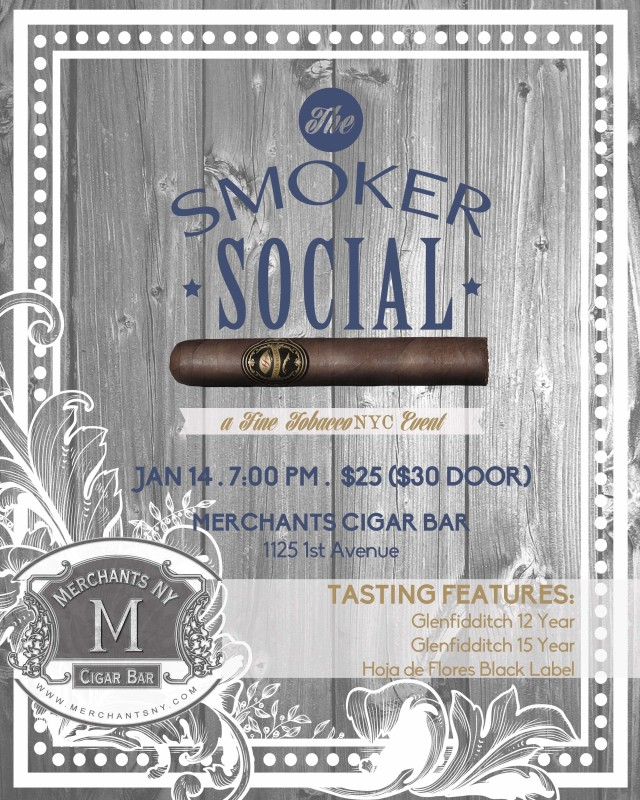 "Post image for Exclusive Tasting: ""The Smoker Social"" at Merchants NY Cigar Bar"