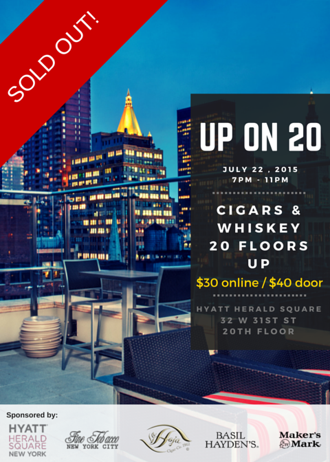 Post image for Event Invite: Up On 20 Rooftop Cigar & Whiskey Pairing