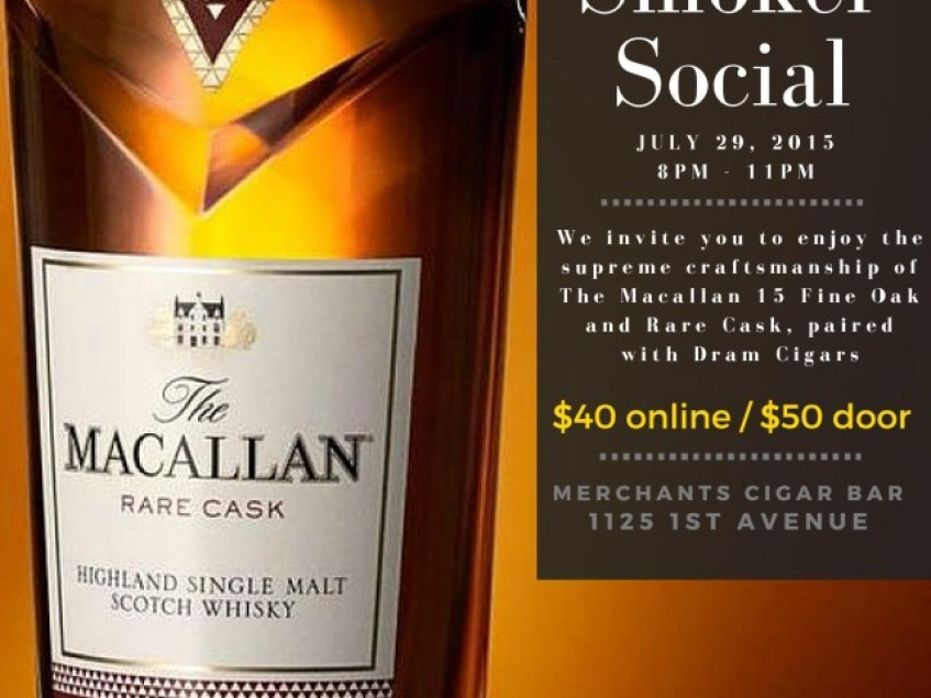 Event Invite: Straight Up & Toasted Feat. The Macallan and Dram Cigars