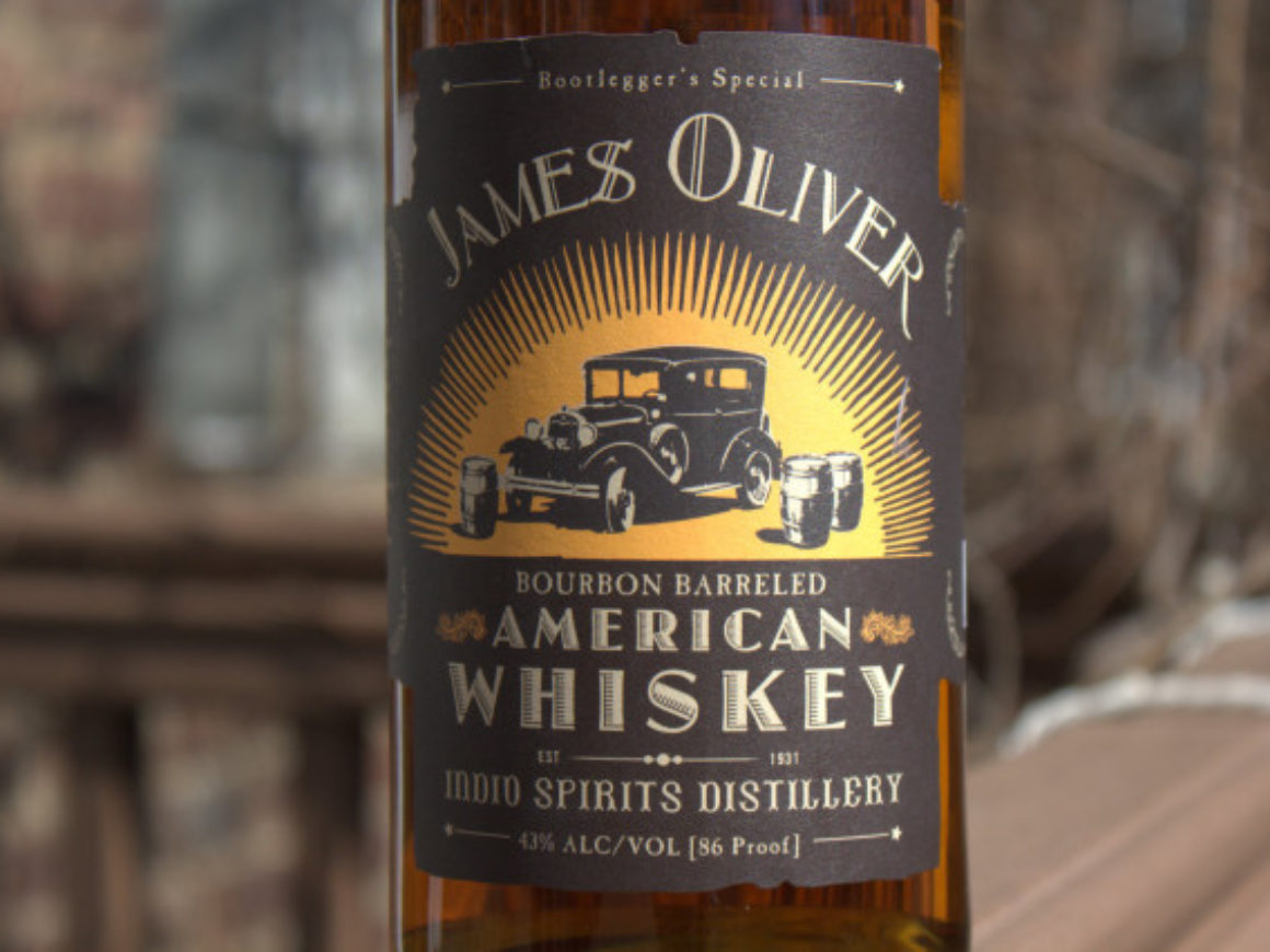 james oliver american whiskey label