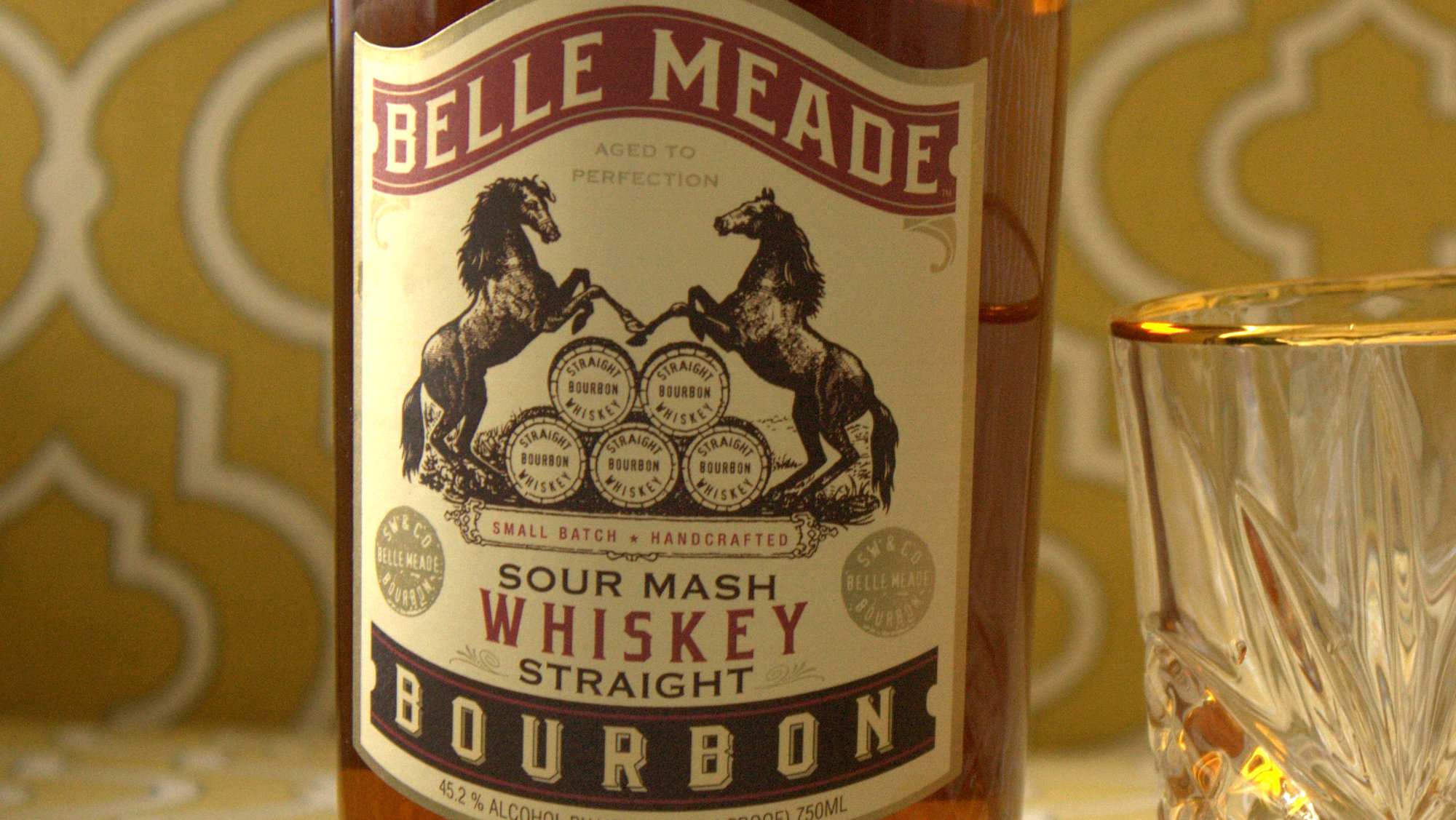 belle meade sour mash straight bourbon label