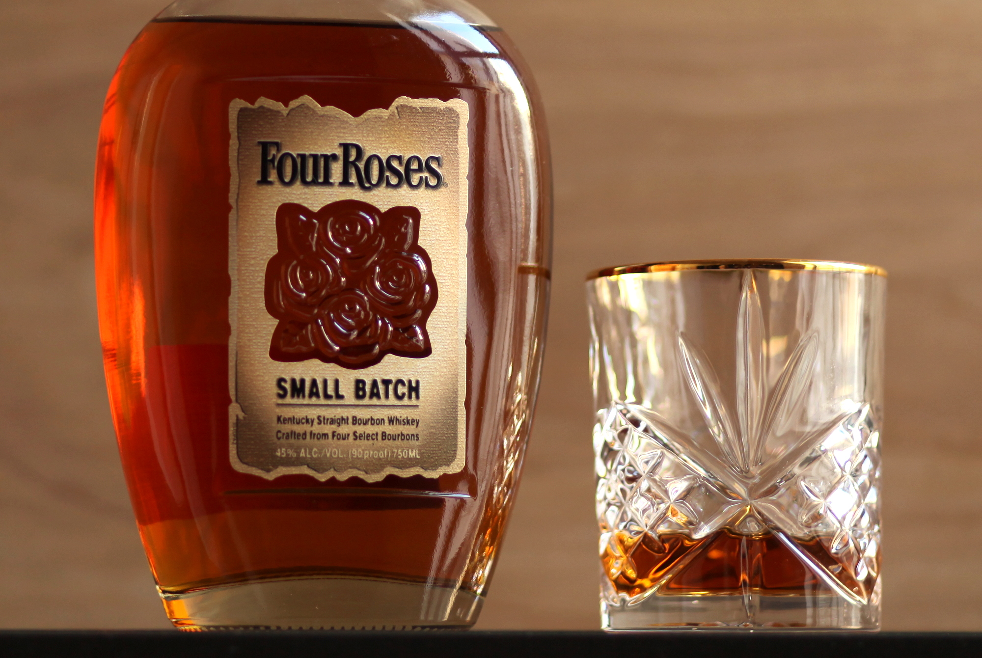 Four Roses Small Batch Whiskey in Glass