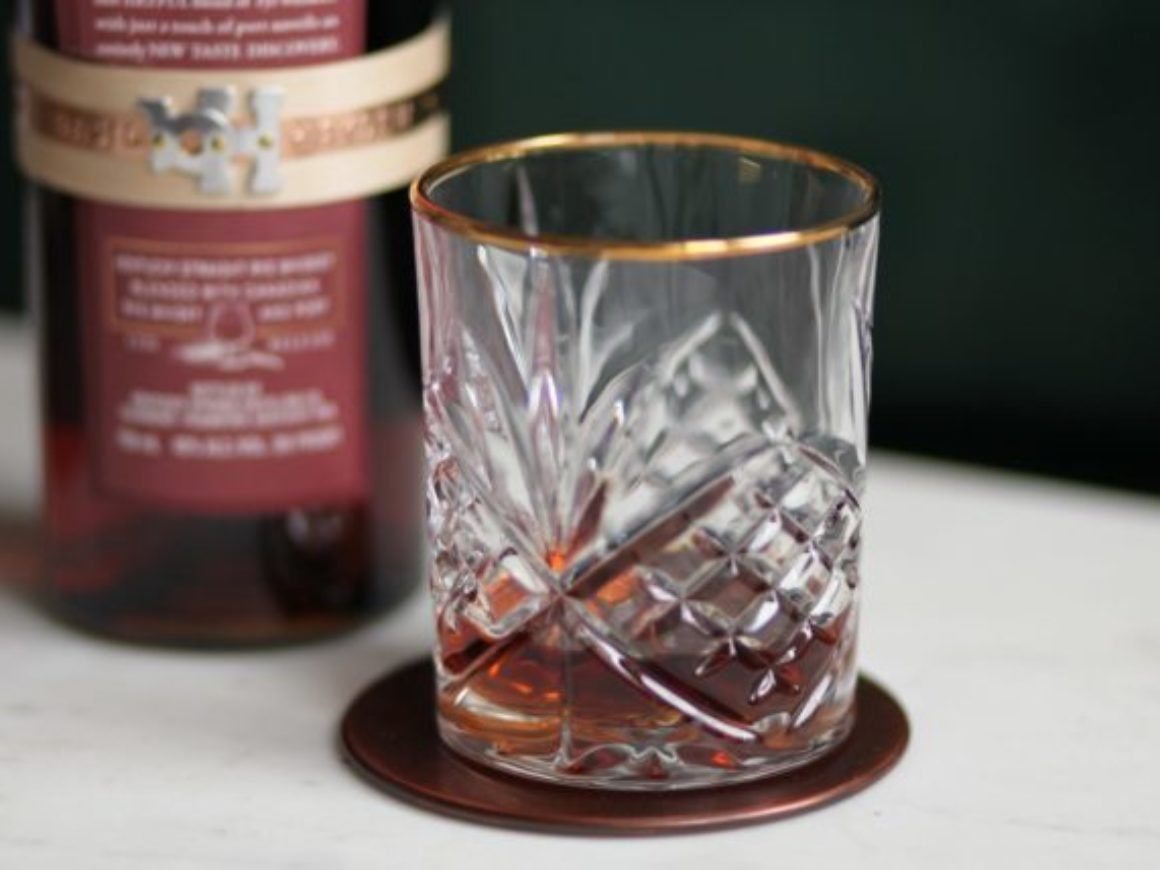 Basil Haydens Dark Rye in glass