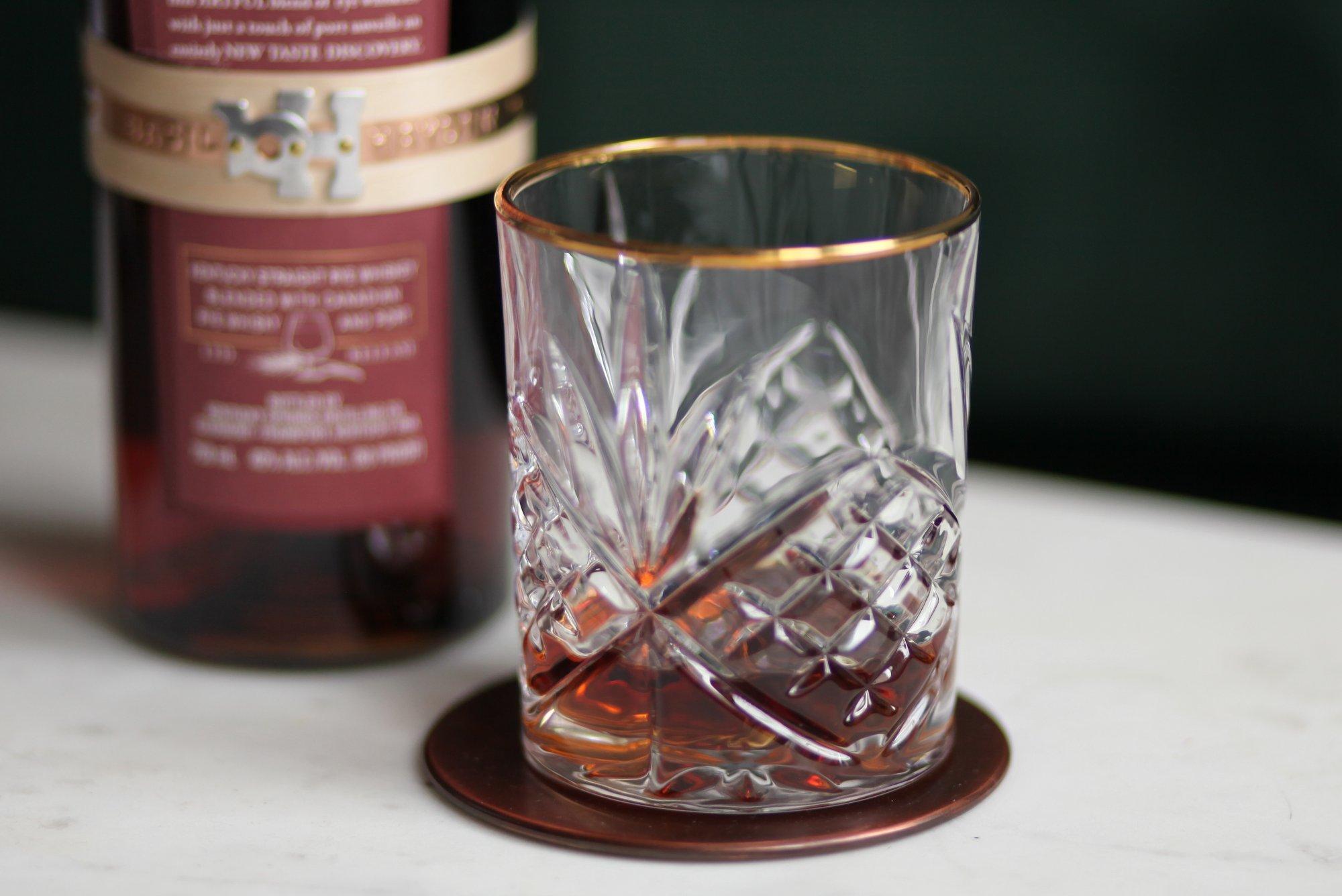 Basil Haydens Dark Rye in glass