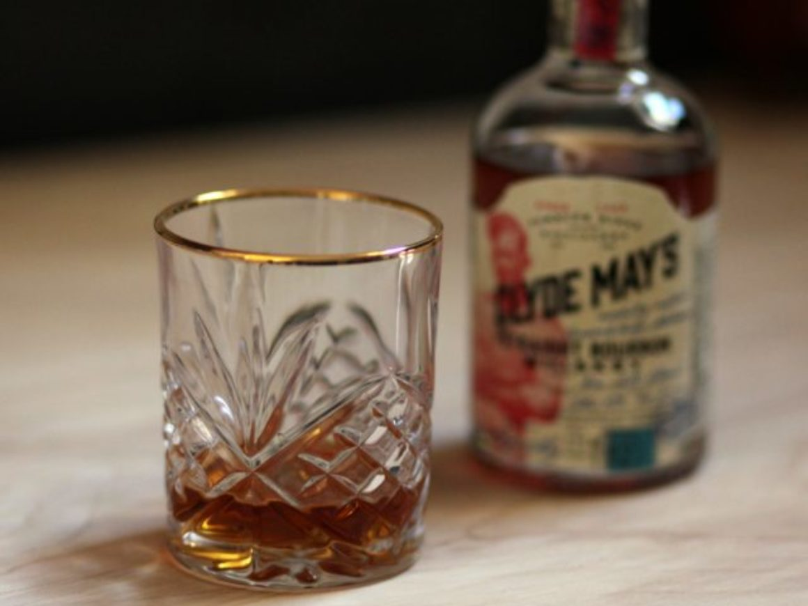 Clyde Mays Straight Bourbon Review with Glass