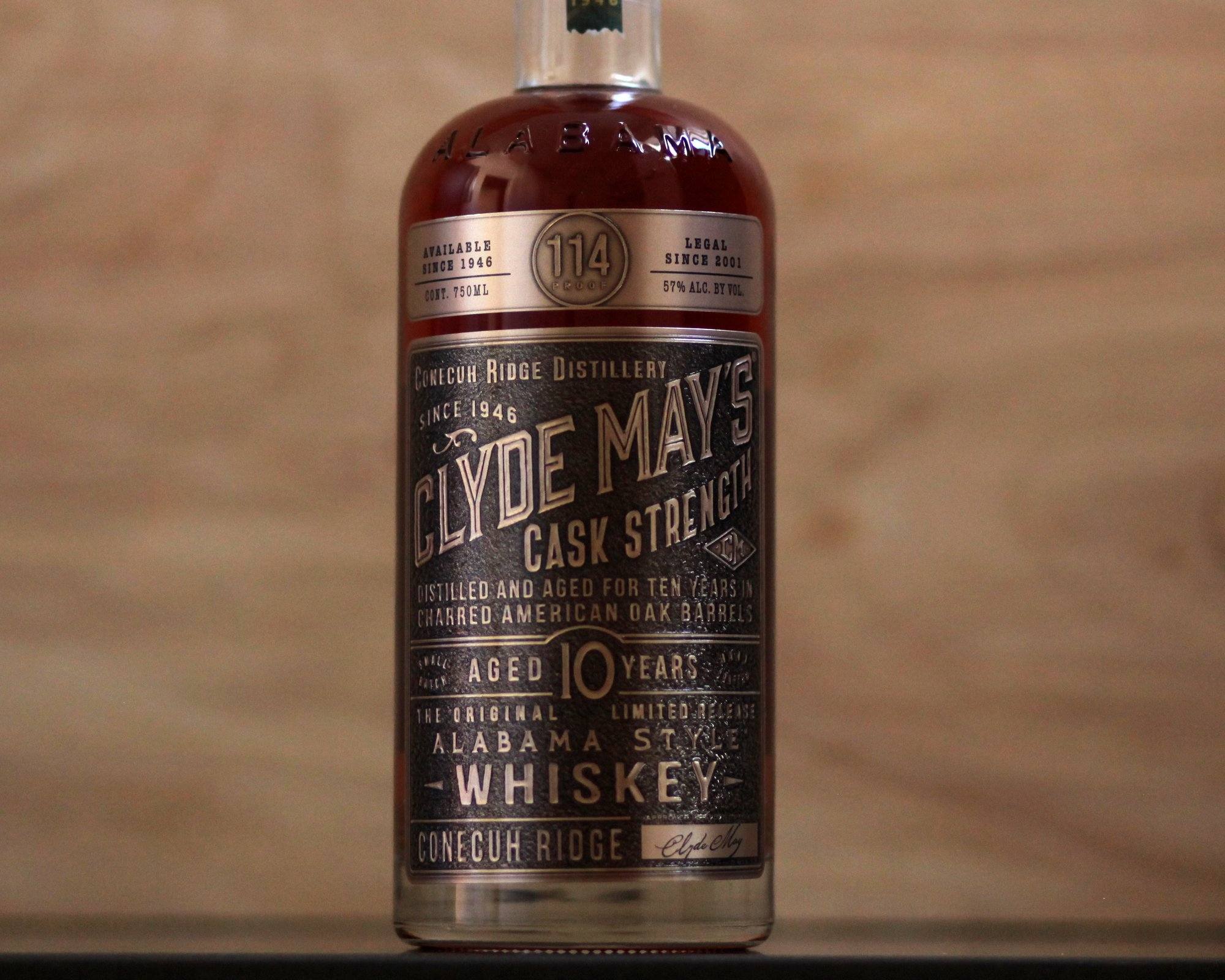Clyde May's Cask Strength 10 Year Whiskey