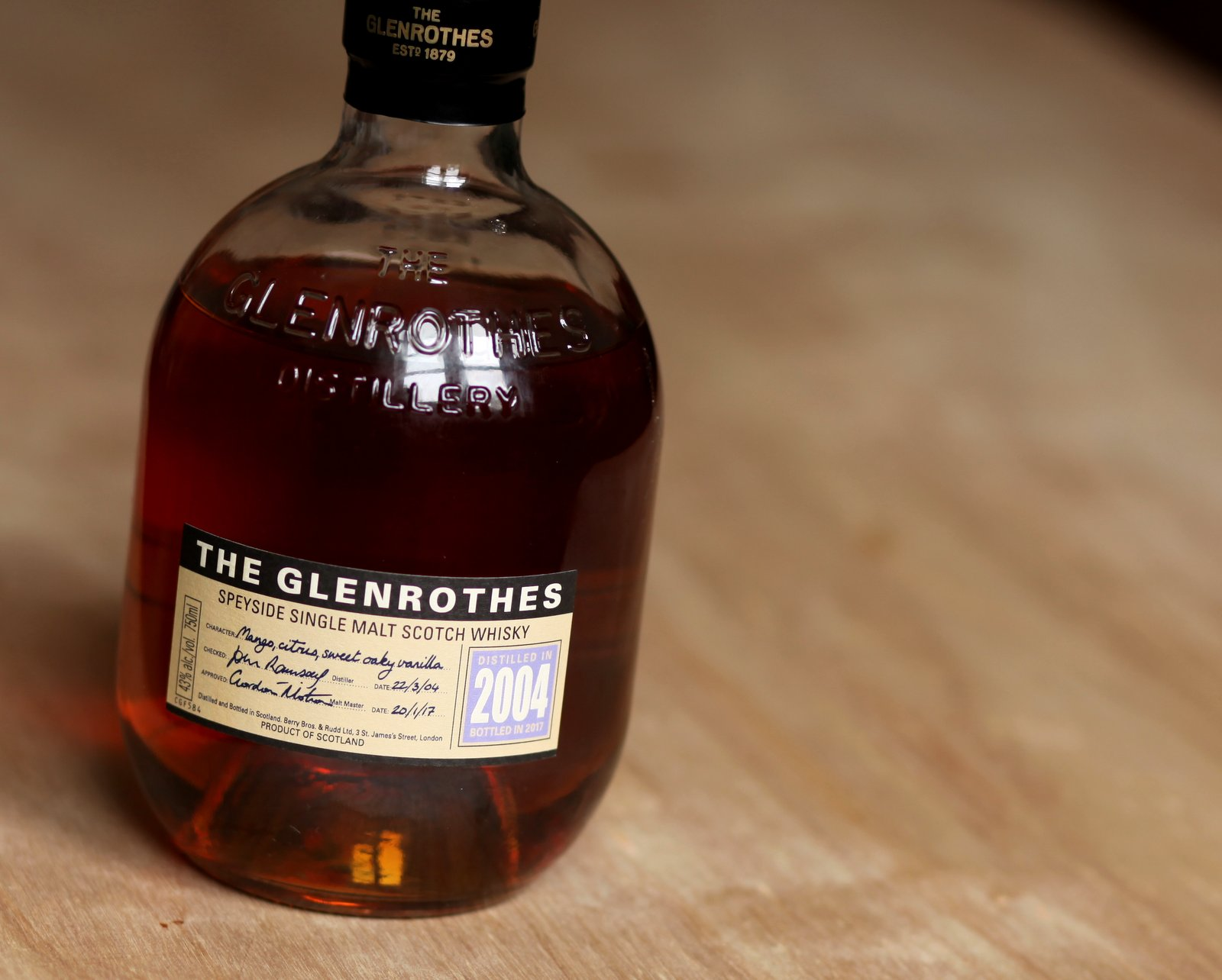 The Glenrothes Vintage 2004 Review Bottle
