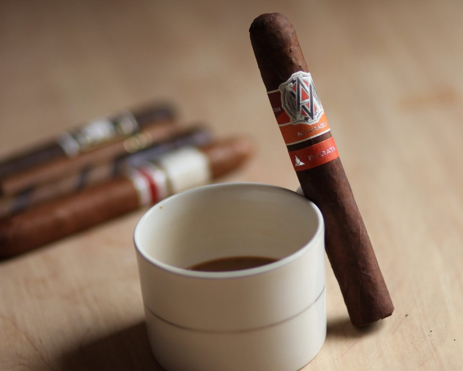 cigar with coffee