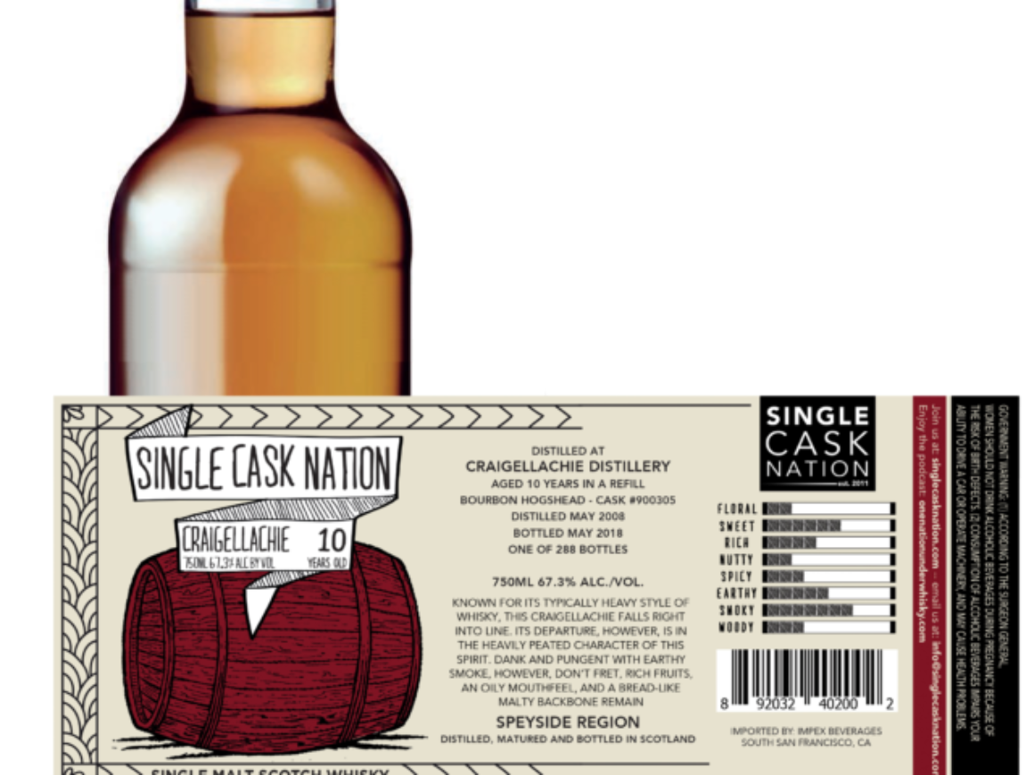Craigellachie 10 Year – Single Cask Nation