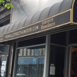exterior of wall st humidor